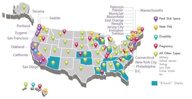 Presagia's Paid Sick Leave Map for DMEC 2015
