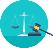 Law scale and gavel reinforce the importance of ensuring compliance with all levels of leave legislation