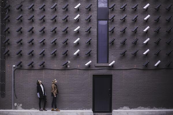 Employees concerned about their personal security and privacy look at security cameras